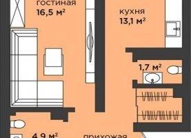 Продается 2-комнатная квартира, 64.4 м2, Калининград, Московский район